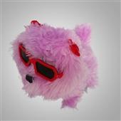其他公仔、玩偶、娃娃-玩具批发 条纹带帽长毛带眼镜倒退狗 电子狗 儿童电动玩具狗...