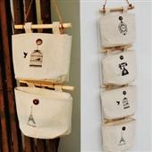 批发采购储物挂袋-创意厕所杂物收纳  田园式风格收纳挂袋 多款图案 复古墙壁置物...