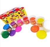 儿童益智玩具_多多乐8色彩泥套装橡皮泥每瓶80克超轻diy益智 -