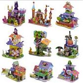 拼图、拼板-3D立体拼图 益智diy儿童玩具 纸模型拼图 多款城堡小屋 厂家直销...