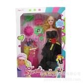 其他公仔、玩偶、娃娃-淘宝货源 多款漂亮服饰过家家芭比娃娃diy女孩动漫女孩玩具...