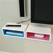 搁板置物架_促销烤漆机顶盒dvd架墙壁架装饰架搁板置物架 -