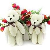 泰迪熊挂件_批发13cm 婚庆泰迪熊挂件 玩具娃娃 diy卡通花束毛绒 -