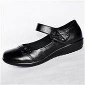 单鞋-新款真皮妈妈鞋女式单鞋牛皮时尚女鞋舒适中老年工作鞋批发可分销-单鞋尽在阿里...