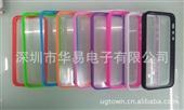 手机保护套-新款 苹果5代 iPhone5 pc+tpu 透明光面底壳 糖果色边...
