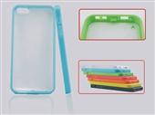 苹果保护壳_半透明手机壳 双色tpu 苹果磨砂保护壳 带防尘塞 -