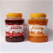 奶茶原料_免费提供 黑森林草莓果酱珍珠奶茶原料 多种口味可混批 -