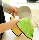 百洁布、洗碗巾、抹布-超细竹纤维不掉毛超吸水清洁布抹布 百洁布不沾油洗碗布A32...