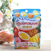 糖果、巧克力类-日本进口零食*喀芭雅kabaya菠萝+百香果2种类果肉软糖 35...