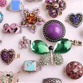 镶宝石戒指_外贸出口首饰 批10元店 合金镶钻镶宝石 款多 -