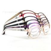 框架眼镜-热销新款 外贸金属面眼镜框架 眼镜批发厂家直销 6660现货供应-框架...