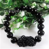 时尚手链_黑胆石貔貅手链厂家批发 时尚宝石 黑石 -
