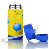 不锈钢保温杯_创意新款水杯子 儿童不锈钢保温杯大肚防漏 婴儿学饮杯吸管 -