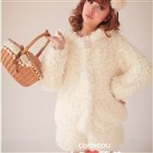 羊羔绒外套_新款超萌耳朵保暖秋冬套装 羊羔绒长毛外套+短裤 -