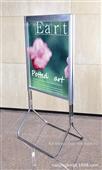 pop展示架_落地式不锈钢双面pop展示架广告架 海报架宣传架 a83 -