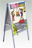 展示架-厂家生产 双面海报展示架 开启式铝合金展示架 XF-HBJ-06-展示架...