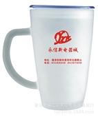批发采购杯子-广告杯子带盖 磨砂杯 定做礼品杯 茶杯 批发 玻璃杯子 印字印LO...