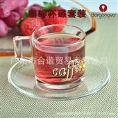 批发采购咖啡具套装-博格诺 咖啡杯碟套装 80ml 特浓咖啡杯 玻璃咖啡杯 丝印...