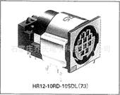 连接器-Hirose/广濑圆形连接器4孔母触点插座 乔氏代理HR10G-7R-4...