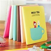 日韩国文具_a050日韩国文具 可爱奶茶时光胶套本 创意随身携带 -