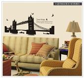 装饰贴花_特大双子桥客厅卧室沙发壁橱书房背景装饰墙上贴花 -