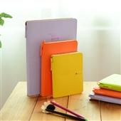 笔记本、记事本-新款韩国糖果色硬面记事本 带笔笔记本 计划日程本 绑带日记本子-...