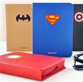 韩国文具_韩国文具 批发英雄联盟超人系列圆背笔记本 记事本 -