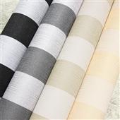 墙纸、壁纸-厂家直销 竖条PVC墙纸 环保条纹壁纸 黑白条纹墙纸 米色条纹壁纸-...