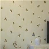 墙纸、壁纸-美式乡村田园风格松子松果墙纸 卧室客厅满铺无纺布壁纸-墙纸、壁纸尽在...