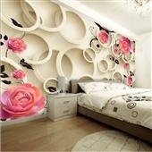 墙纸、壁纸-大型3D立体墙纸壁画个性玫瑰客厅电视背景墙卧室无缝墙布自粘壁纸-墙纸...