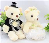 其他公仔、玩偶、娃娃-情侣泰迪熊 婚纱熊 车前熊 婚车熊 签字玩偶压床娃娃 低价...