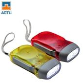 批发采购照明电筒-aotu 透明双灯手压电筒 LED手电筒 环保照明 手摇发电 ...