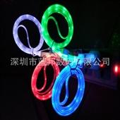 手机数据线-彩虹苹果5发光线批发 iPhone6发光数据线 USB手机充电线 带...